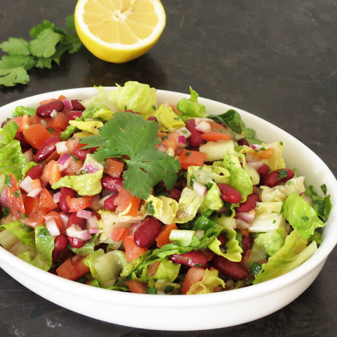 Bean Salad with Cilantro Dressing