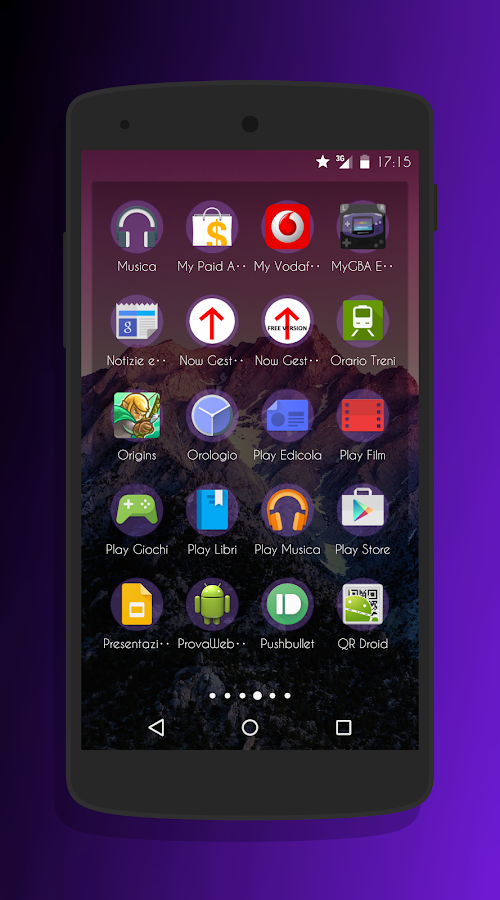 Transparent Purple -CM13 Theme Screenshot 5