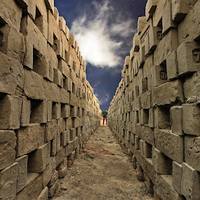 BRICK FIELD by NEELANJAN BASU - Backgrounds Industrial ( oject, sky, subject, brick, industry )