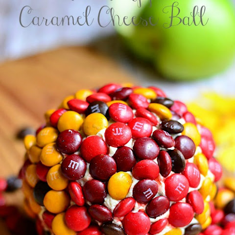 M&M Apple Caramel Cheese Ball
