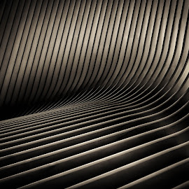 Wave Lines by Dutch Bagley - Black & White Abstract ( fulton, subway, train, occulus, new york, phoenix, brookfield )