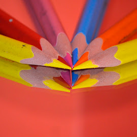 Pencils on a mirror by Richard Booysen - Abstract Patterns