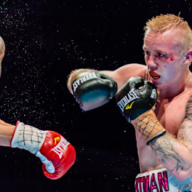 On the Attack by Andy Dries - Sports & Fitness Boxing ( punch, ko, determination, boxing, sweat )