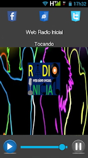 Web Rádio Inicial - screenshot