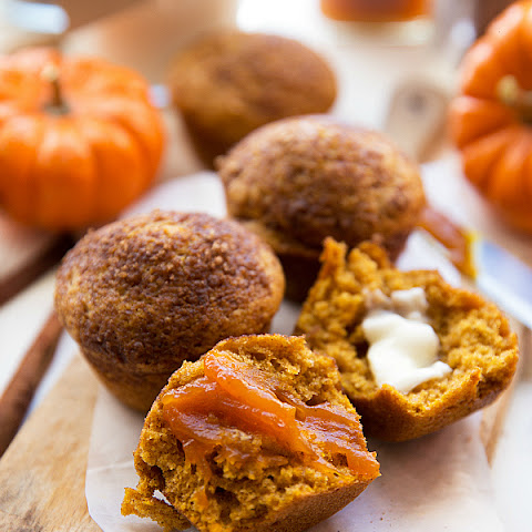 Healthier Pumpkin Cheesecake Muffins (with Greek Yogurt)
