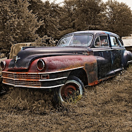 1948 Chrysler Windsor by Jeffrey Lorber - Transportation Automobiles ( lorberphoto, rusted car, @lorberphoto, classic cars of south carolina, rust 'n chrome, rust, jeffrey lorber )