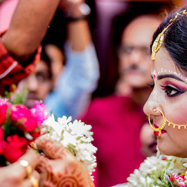 by Arijit Banerjee - Wedding Ceremony ( bride, 50mm, marriage, bengali, wedding, portrait )
