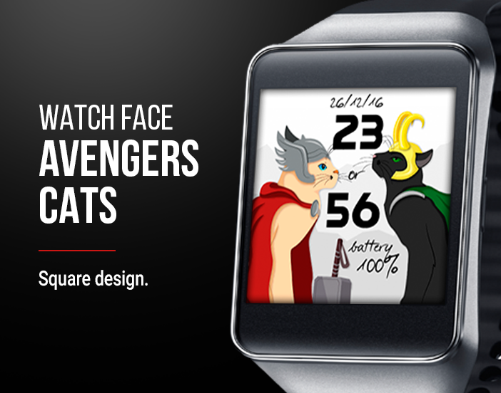 Watch Face: Avengers Cats Screenshot 2