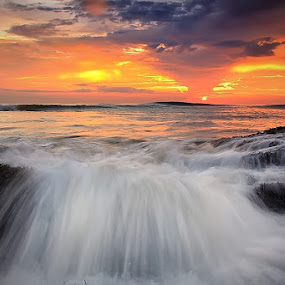 by Krishna Mahaputra - Landscapes Waterscapes ( bali, waterscape, sunset, beach, landscape )