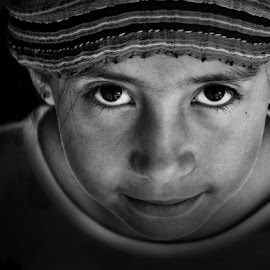 Children Around the World by Mimi Quinones Cure - Black & White Portraits & People
