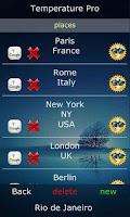 Screenshot of Temperature