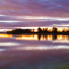 Fraser River by Peter Murphy - Landscapes Sunsets & Sunrises