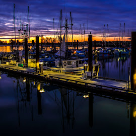 Steveston Pier by Peter Murphy - Transportation Boats