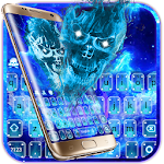 Hell Fire Skull Galaxy Magic Keyboard Icon