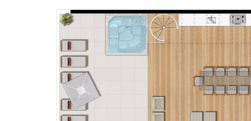 Planta Duplex Superior - 3  Dormitóritos