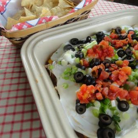 Layered Chicken Nacho Dip