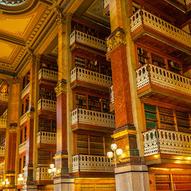 Iowa Capitol Library by James Kirk - Buildings & Architecture Public & Historical ( balconies, library, stacks, historic )