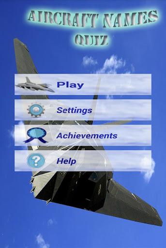 Aircraft Names Quiz - screenshot