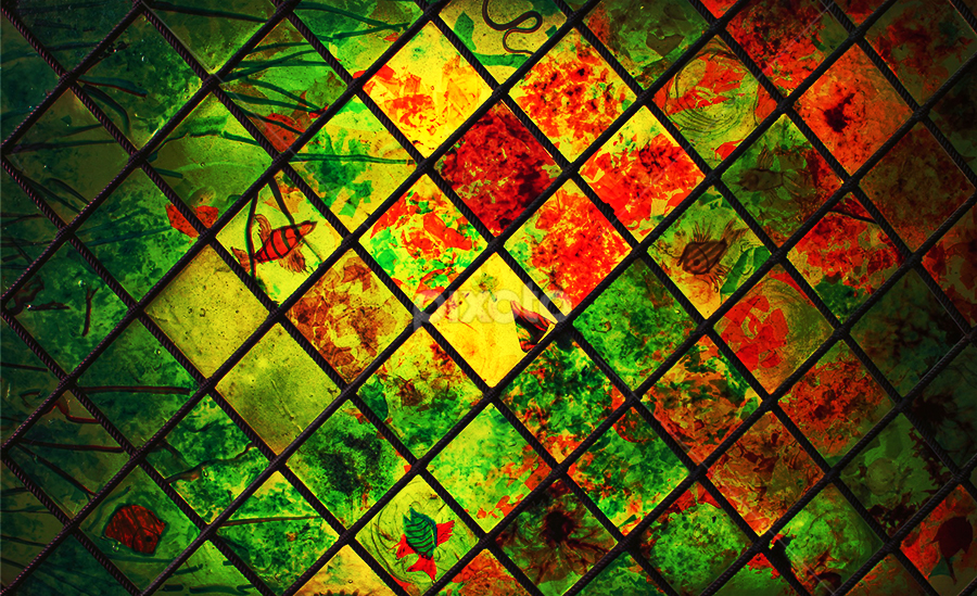 Stained Glass Ferrovia by Sefanya Dirgagunarsa - Abstract Patterns ( pwcabstractdiamond, pwcabstractdiamonds )