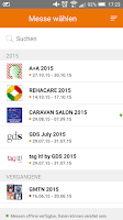 Screenshot of Messe Düsseldorf App
