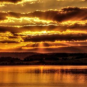 Sunset  by Michal Valenta - Landscapes Sunsets & Sunrises ( #GARYFONGDRAMATICLIGHT, #WTFBOBDAVIS,  )