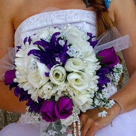Brides Bouquet by Shanna L Christensen - Wedding Bride ( bride, close-up, bouquet, wedding, colors )