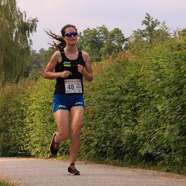 City Running in Zwettl 7 by Franz  Adolf - Sports & Fitness Running ( girls, sports, running )