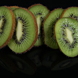 Sliced Kiwi by A Winston - Food & Drink Fruits & Vegetables ( fruit, kiwi, green, kiwis, fruits and vegetables )