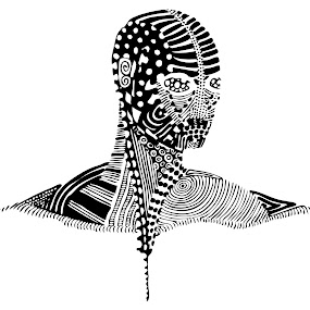 Patterned Head by Alina Jumabhoy - Illustration Abstract & Patterns ( abstract, body, pattern, illustration, head, human )