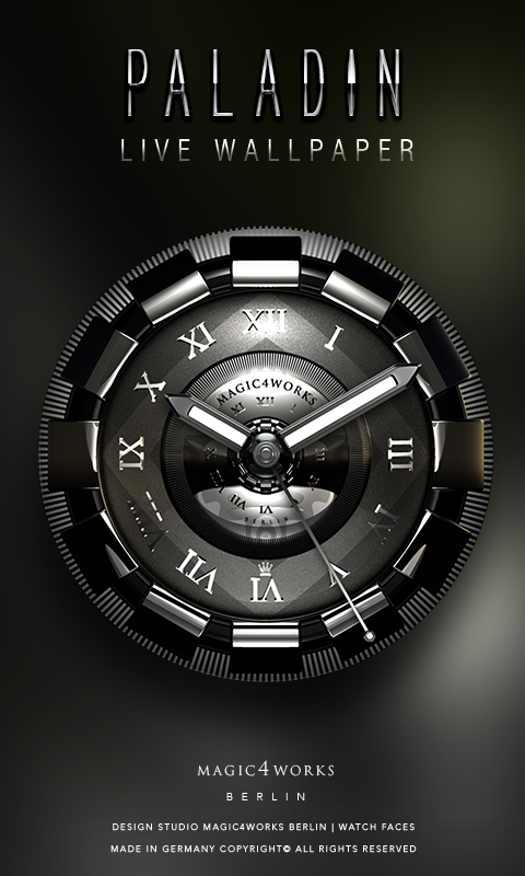 HD Analog Clock Bundle LWP 7 Screenshot 2
