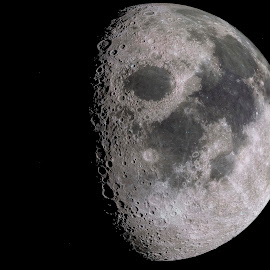 The moon by Sorin Lazar Photography - Landscapes Starscapes ( spots, the_moon_night, pits, earth_natural_satellites, night, the_moon_at_dark_night, telephoto, satellites )