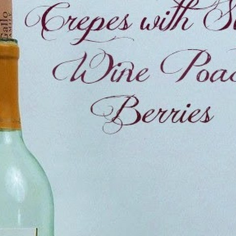 Crepes with Sweet Wine Poached Berries