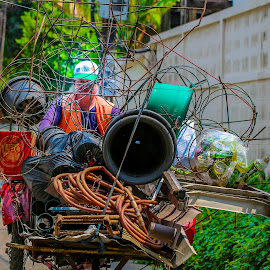 Recycle Man. by John Greene - People Street & Candids ( bangkok, recycle, green, john greene, go green )