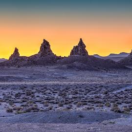 A Trona Moonrise  by Vinod Kalathil - Digital Art Places ( desert, california, pinnacles, trona, moonrise )