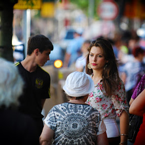 Street Candid by Eric Base - People Street & Candids ( street candid, russian woman, portraits, israel, street portraits )
