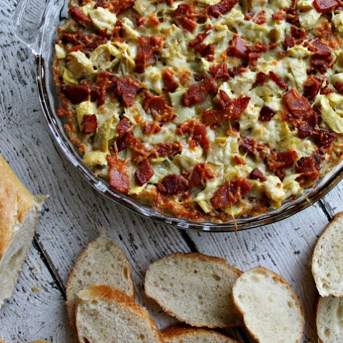 Baked Dill-Artichoke Dip with Bacon