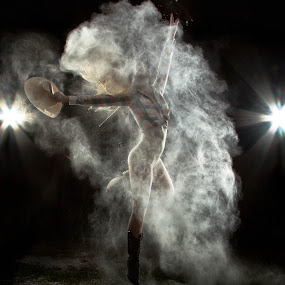 by SumPics Photography - People Portraits of Women ( kicking, jumping, long hair, northwest arkansas, cowgirl, blog, photo, photography, sumpics.com, blonde, dust, photographer, flare, dance, dancer, boots, strobe )