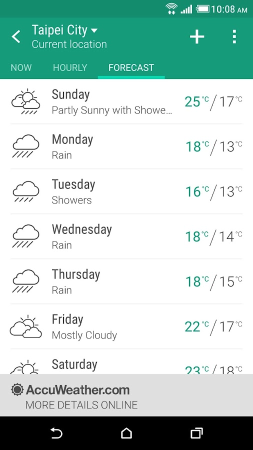 HTC Weather Screenshot 2