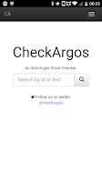Screenshot of CheckArgos