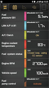 CarBit ELM327 OBD2 Screenshot