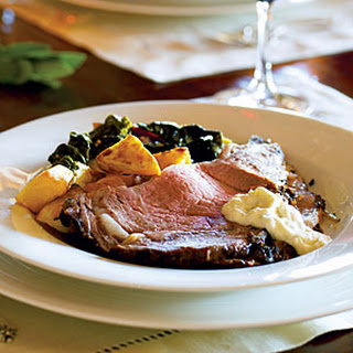 Salt- and Herb-Crusted Prime Rib with Fresh Horseradish Sauce