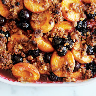 Apricot, Cherry, and Graham Cracker Crumble