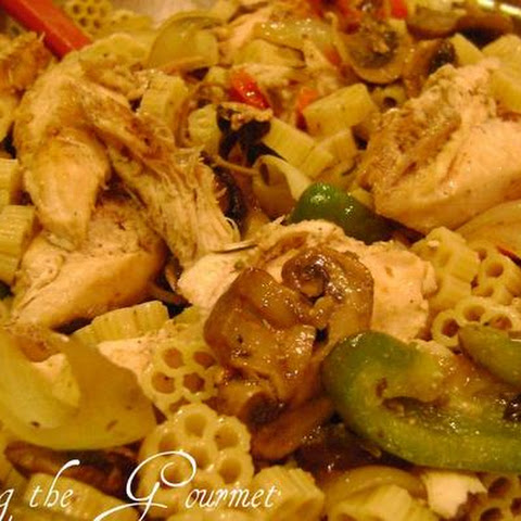 Chicken Breast With Macaroni and Veggies