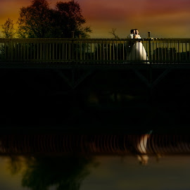 Reflect by Mike Herod - Wedding Bride & Groom ( reflection, wedding, bride and groom )