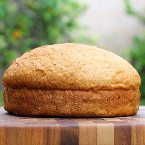 Whole Wheat Peasant Boule with Flax and Fennel Seeds