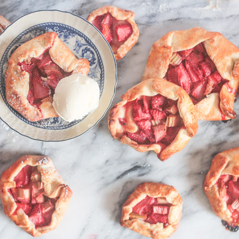 Mini Strawberry Rhubarb Galettes