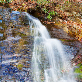 Juney Whank Falls by John Kehoe - Landscapes Waterscapes ( creek, falls, juney, bryson, whank, deep, city )