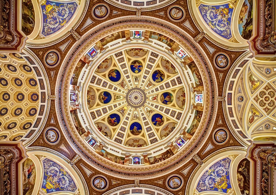 Basilica Dome by Ron Meyers - Buildings & Architecture Other Interior ( churches, domes, basilica )