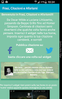 Screenshot of Frasi, Citazioni e Aforismi