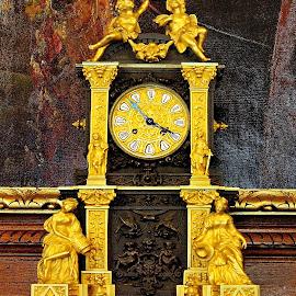 Baroque Wall Clock 2- Festetics Palace - Keszthely, Hungary  by Jerko Čačić - Artistic Objects Antiques